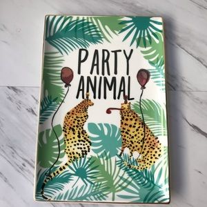 Rosanna Party Animal Cheetah Porcelain Tray